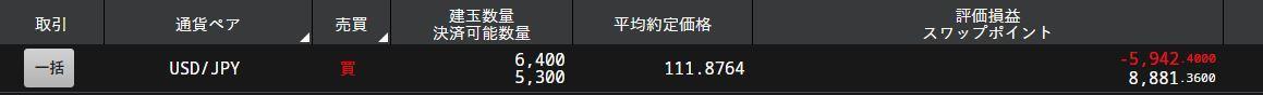 ドル円FX残高