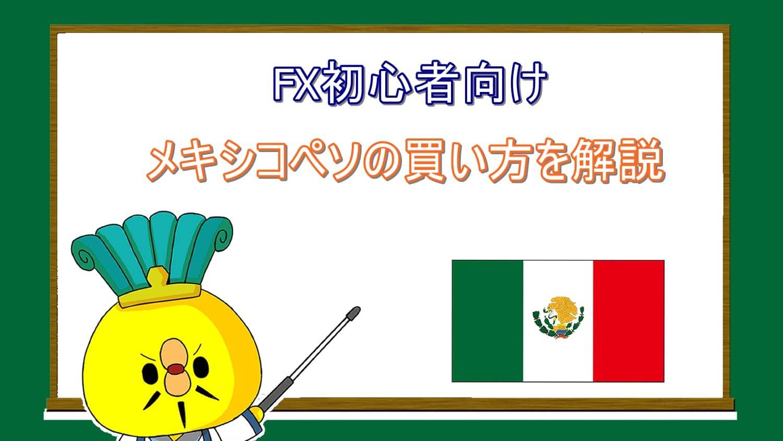 FX初心者向けメキシコペソの買い方を解説