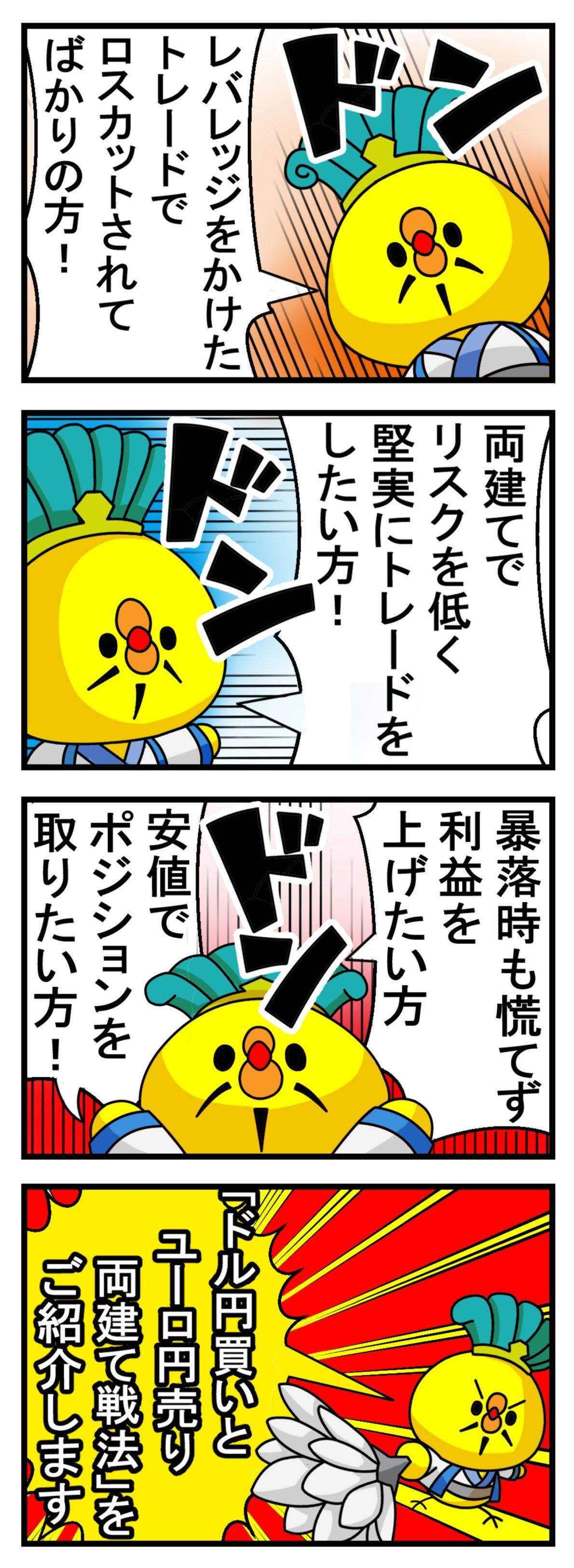 ドル円買いユーロ円売り両建て戦法:ハイリターン投資ROCK