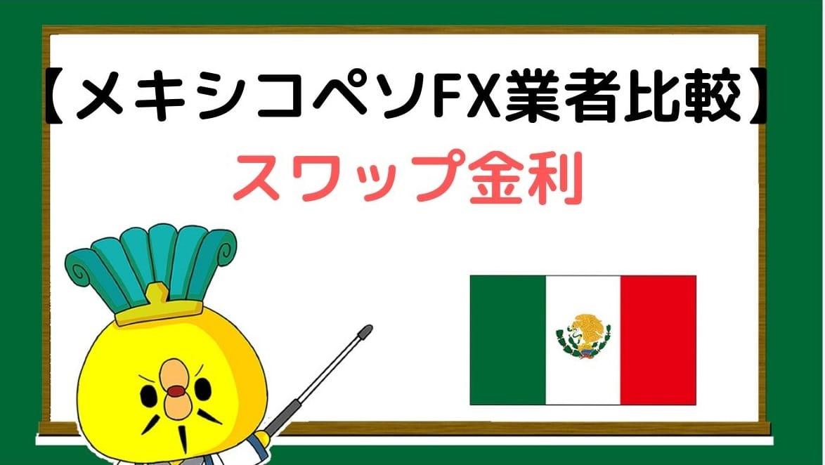 メキシコペソスワップ金利比較